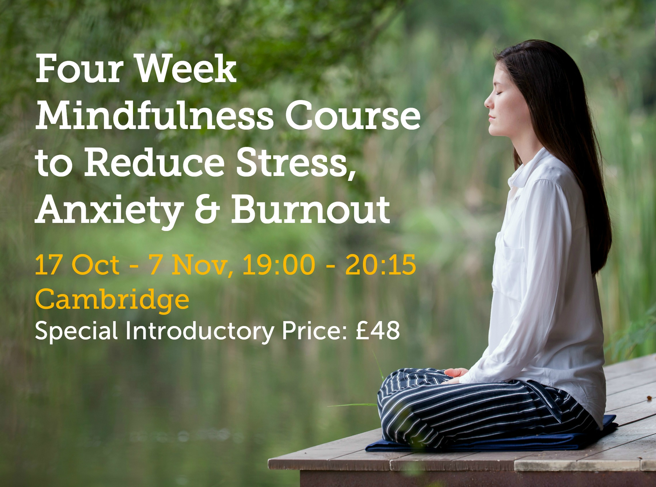 Mindfulness 4 week course eventbrite £48 photo The Rising Network