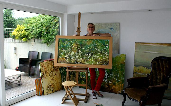 Alicia Zimnickas in her studio