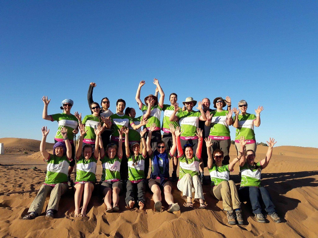 Eighteen #TeamArthur trekkers have now raised £64,700 (as of 1 May 2018), after walking 70km in the world's hottest desert – the Moroccan Sahara.