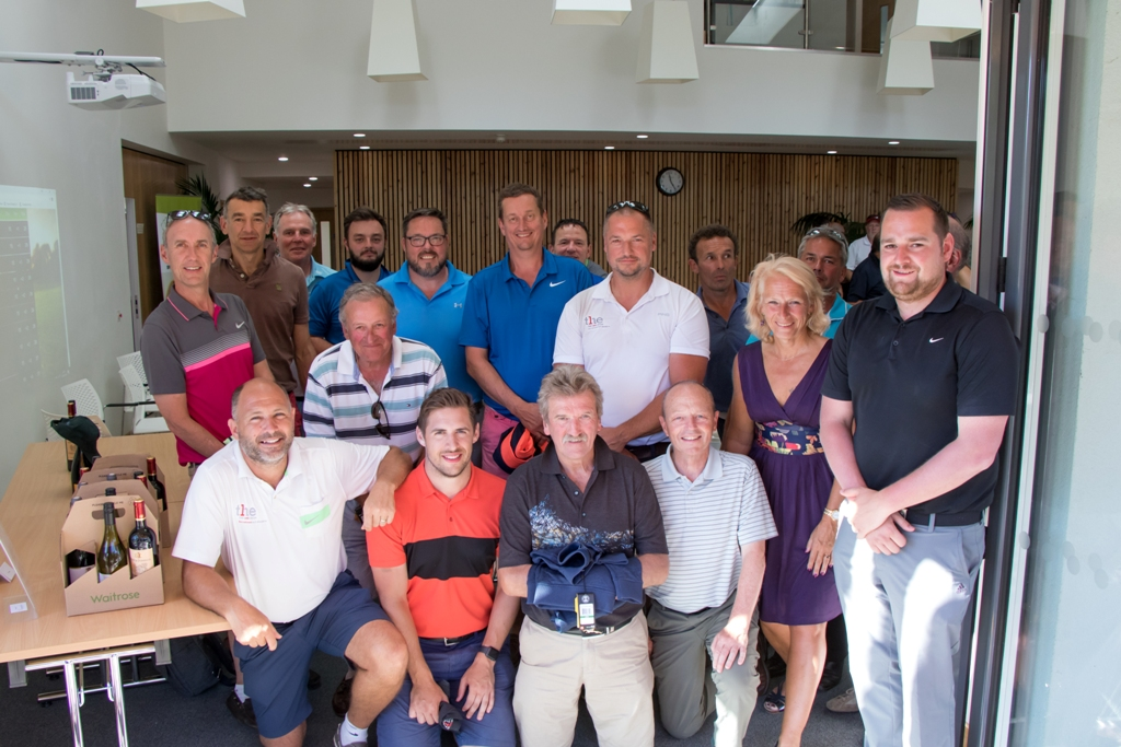 Some of the winners from this year's Arthur Rank Hospice Charity Golf Day, including overall competition winners, and those who took Beat the Pro, Nearest the Pin and Longest Drive.
