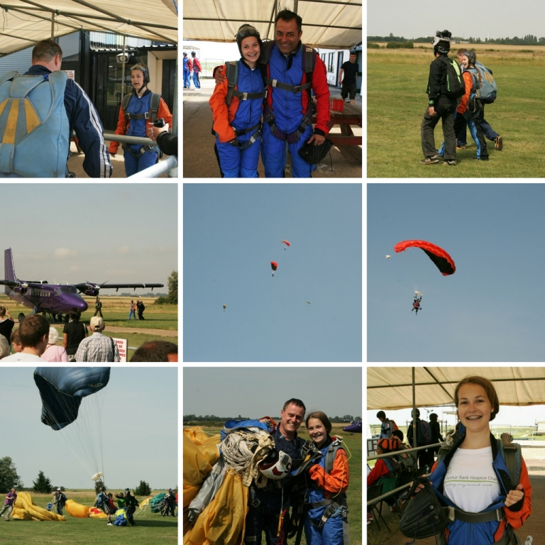 Long term supporter of Arthur Rank Hospice Charity, Ellie Raven, shows how it's done! Ellie raised fund for the Charity with her own skydive in 2014.