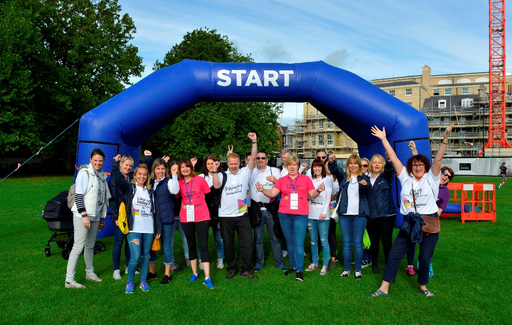 Headline sponsors Cambridge Building Society celebrate a decade of funding, organising and supporting the Bridge the Gap walk, which will take place this year on Sunday 9 September.