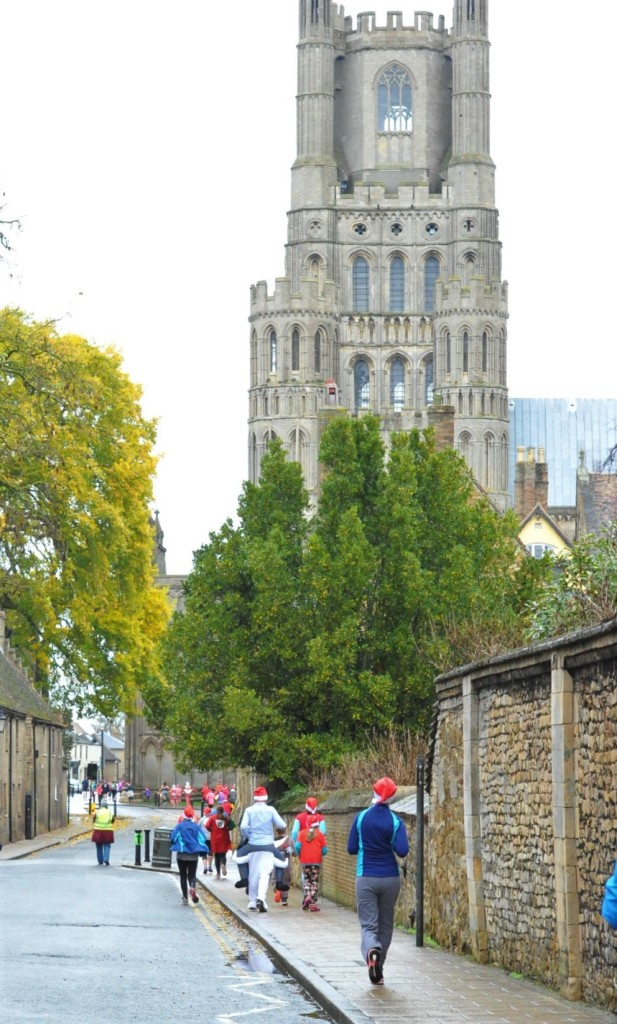 This year's Ely Festive 5K will be hosted at a new venue - Cross Green in Ely Cathedral – and starts at the earlier time of 9am.