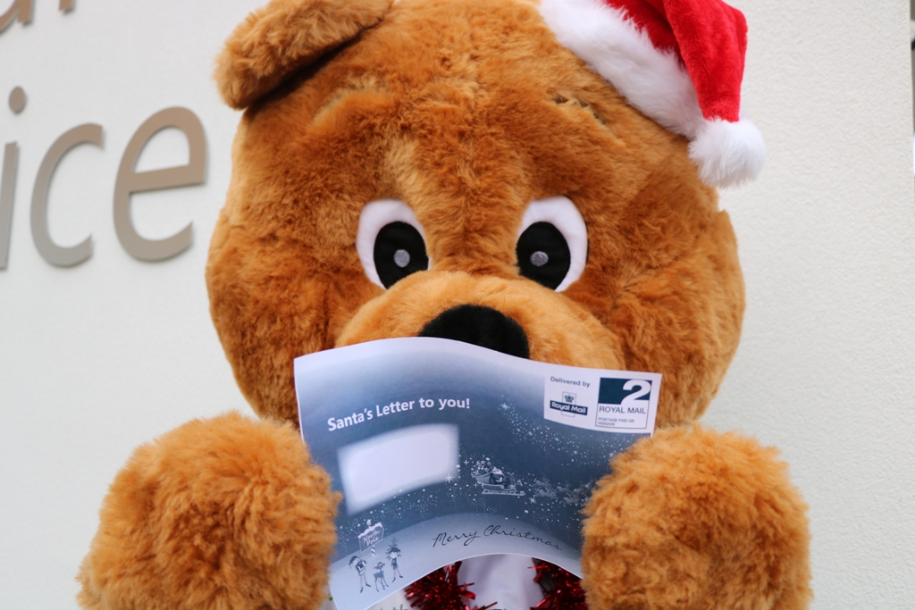 Arthur Bear can't wait to receive your request for a letter from Santa (mainly because he gets to contact the North Pole, but it's quite magical so he can't tell you too much about that!)