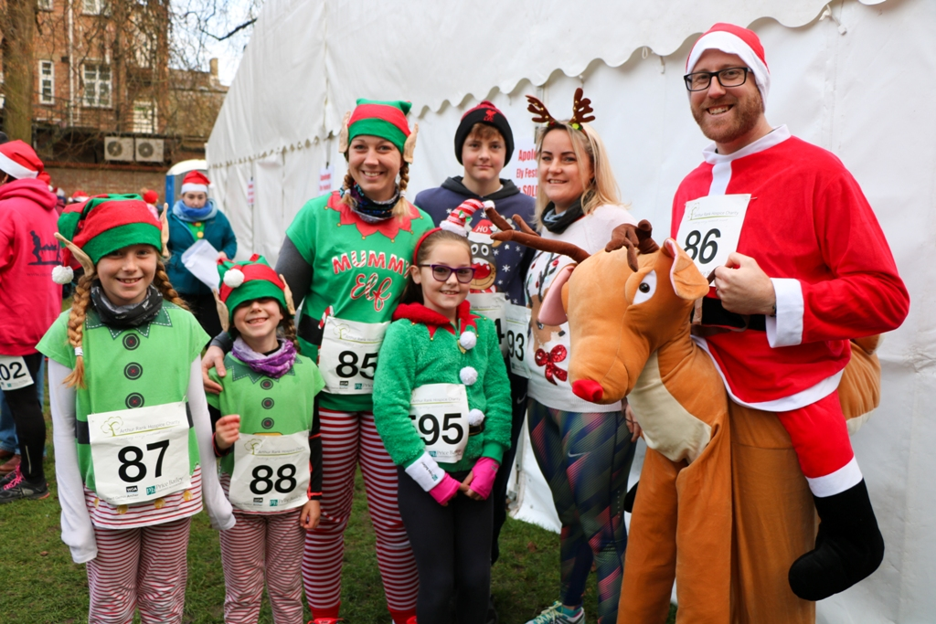 Participants at Sunday's Ely Festive 5K turned out in an impressive array of Christmas themed fancy-dress, bringing some early seasonal cheer to the City.