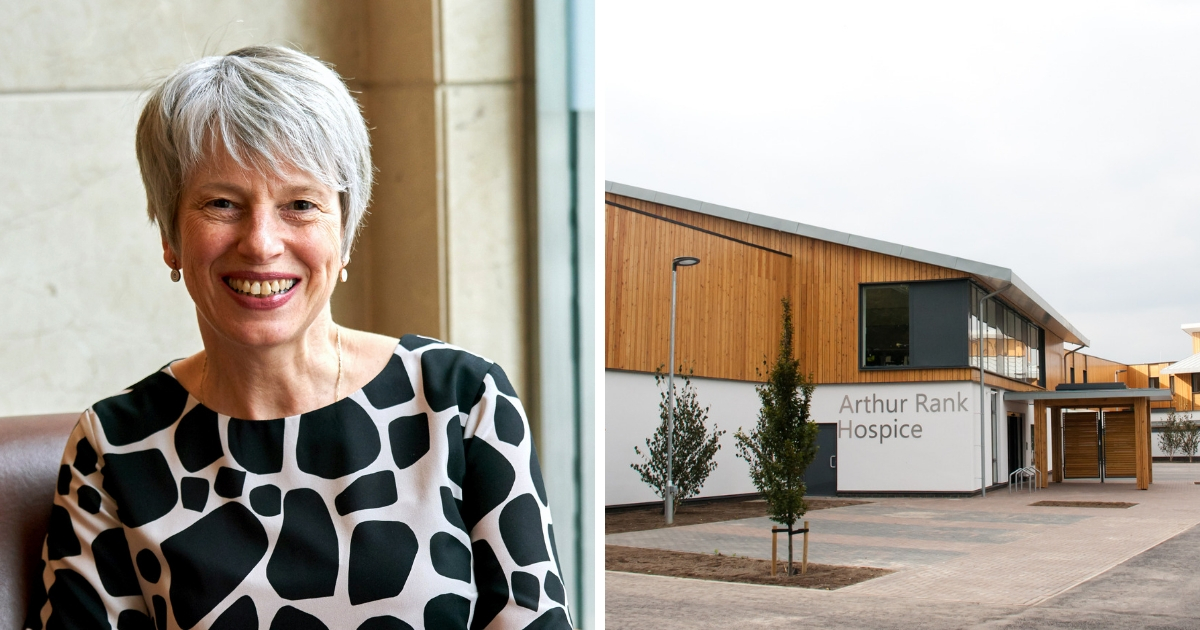 New CEO Sharon Allen, OBE will start at Arthur Rank Hospice Charity in April 2019