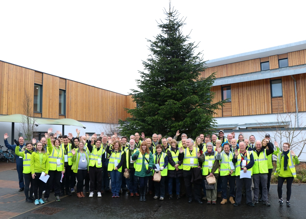 Over 100 volunteers generously gave up their time to help Arthur Rank Hospice Charity collect over 1800 Christmas trees for their annual fundraising Christmas tree recycling scheme. (Photo 1 show volunteers on Friday 11 January, Photo 2 shows volunteers on Saturday 12 January)