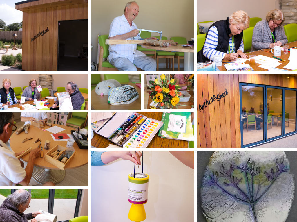 A taste of the programme of volunteer-led activities which take place in Arthur's Shed at the Hospice each week