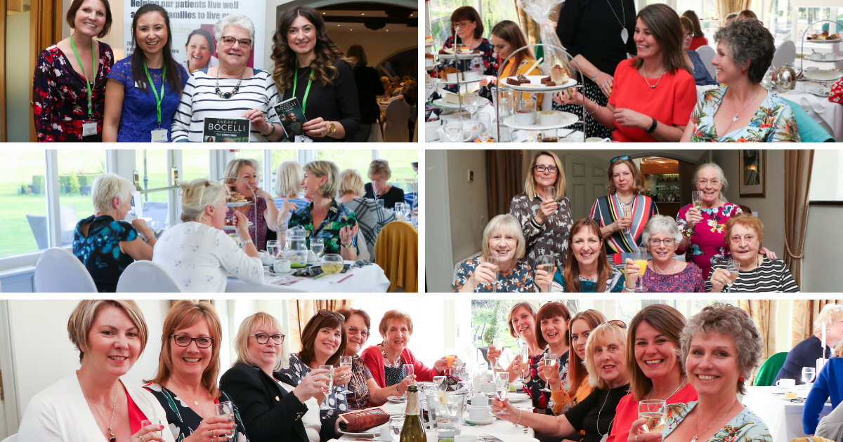 Guests and staff from ARHC at the Sparking Afternoon Tea at Quy Mill raising funds for ARHC.